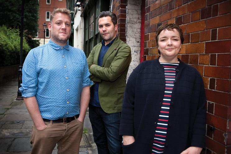 Monk (l) and Maguire (r): the former creative directors will support the ECD, Leonard (c)