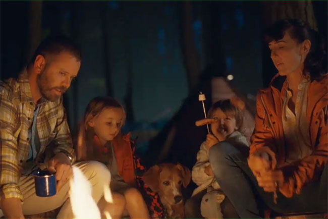 The new Halfords TV ad covers driving, cycling and camping