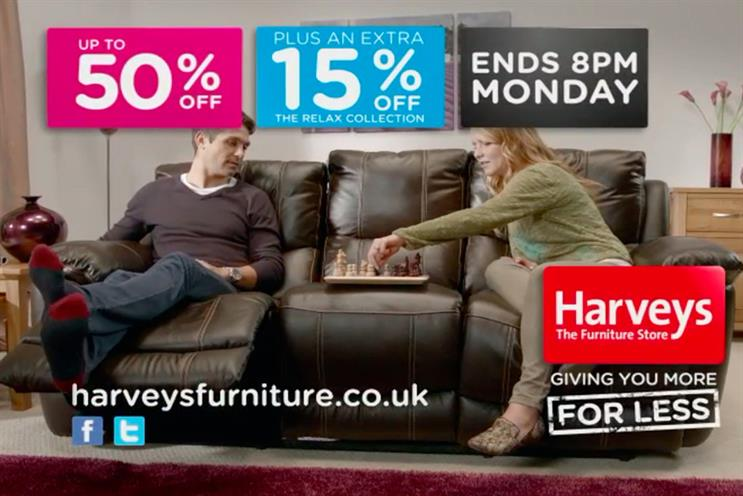 Harveys: The account leaves Enter, which has worked with the retailer for more than two years.