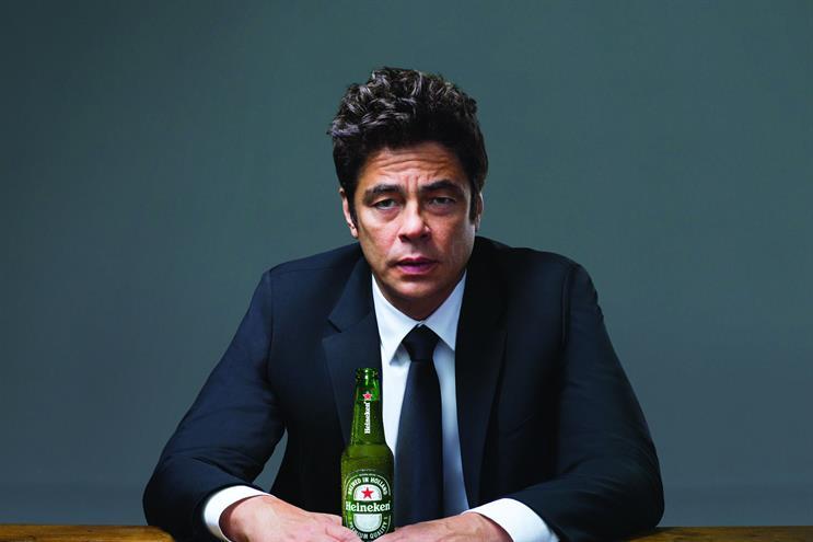 Benicio Del Toro is the star of the Heineken campaign