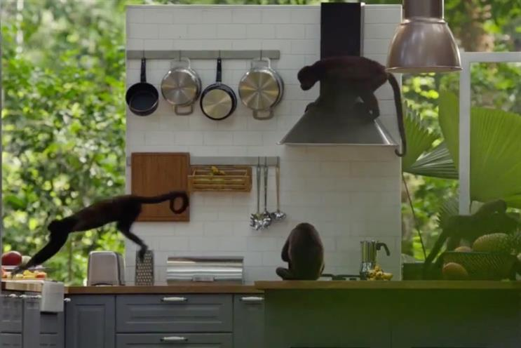 Ikea: monkeys destroy one of its kitchens in 'Rediscover the Joy of the Kitchen' ad