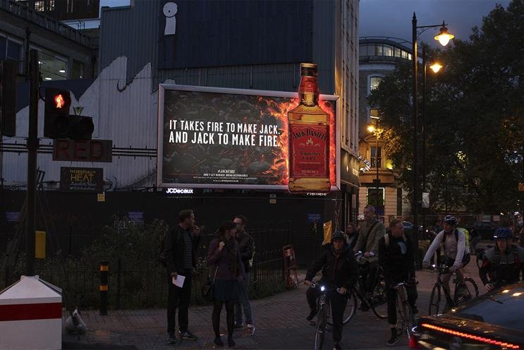 Jack Daniels: rolls out OOH campaign for Tennessee Fire
