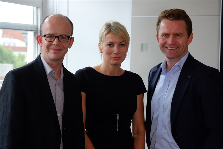 Starcom MediaVest Group: (l-r) Jacob, Glucklich and Parker