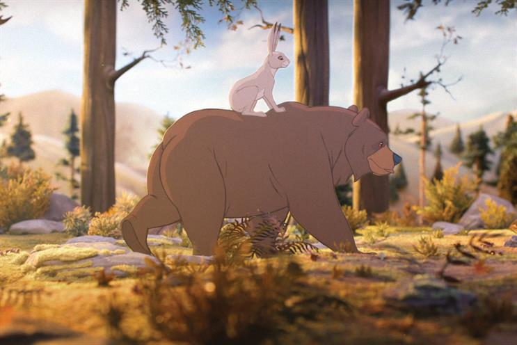 Showstopper: John Lewis again took the seasonal plaudits in 2013 with 'the bear and the hare'