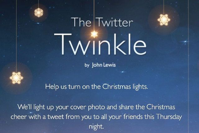 John Lewis: gearing up for Christmas campaign with the 'Twitter Twinkle' app