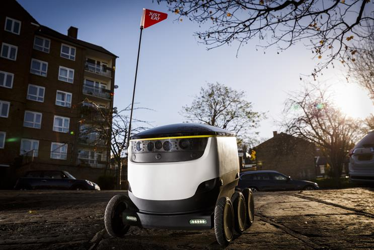Just Eat completes 'world first' takeaway delivery by self-driving robot