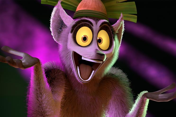 King Julien: one of the first characters to make an appearance on the DreamWorks channel