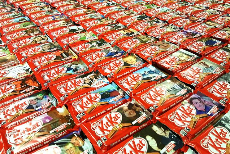 Nestle: Have a break, have a KitKat with a photo of your face on the label