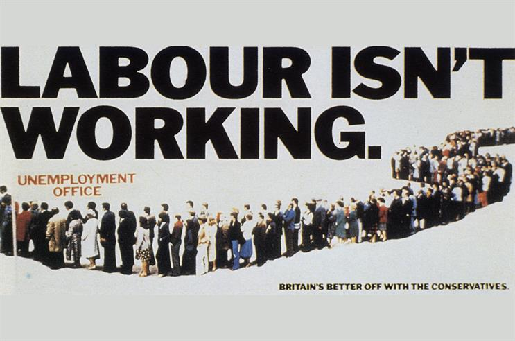 History of Advertising No 90: 'Labour isn't working' poster