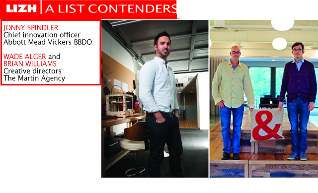 A List Contenders: Jonny Spindler; Wade Alger and Brian Williams