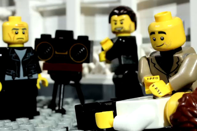 Lego: spoofs British Heart Foundation ad