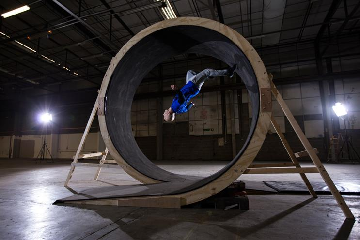 'Loop the loop': launch film on the Pepsi Max Unbelievable Channel featured Walters attempting the first-ever human loop the loop