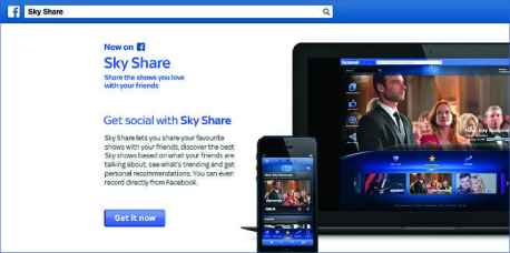 Facebook Connected Campaign of the month: Sky Share
