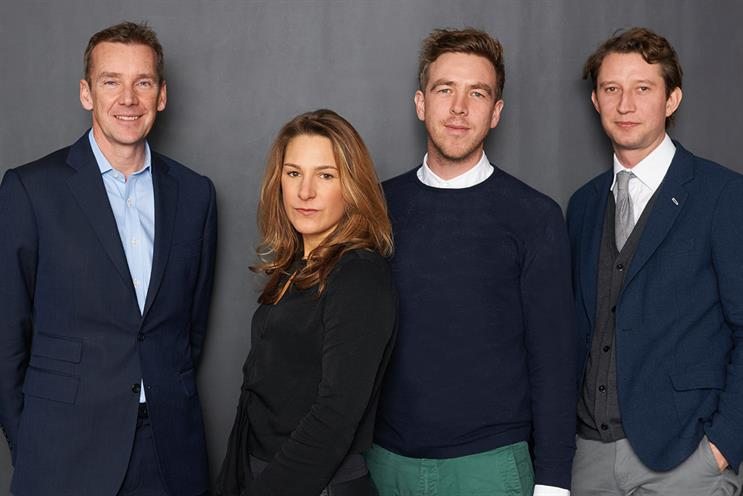 M&C Saatchi management (l-r): Duffy, Bell, Bazeley and Firth acquired stake with Tindall