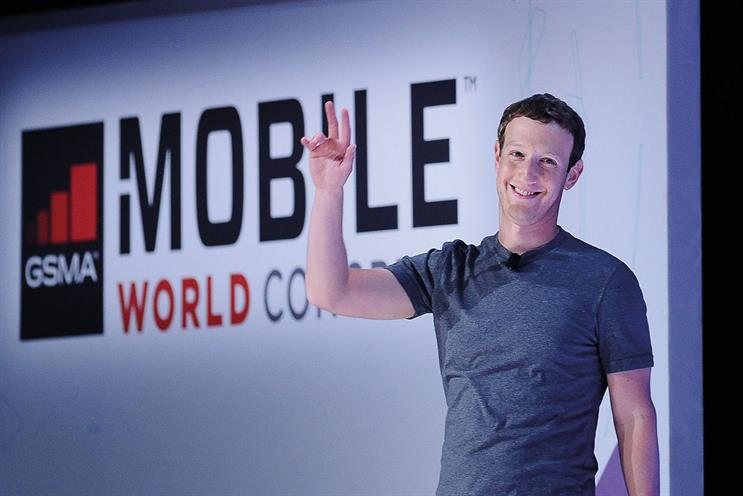 Zuckerberg…Facebook dominated discussion at MWC after its founder appeared on stage during a Samsung presentation