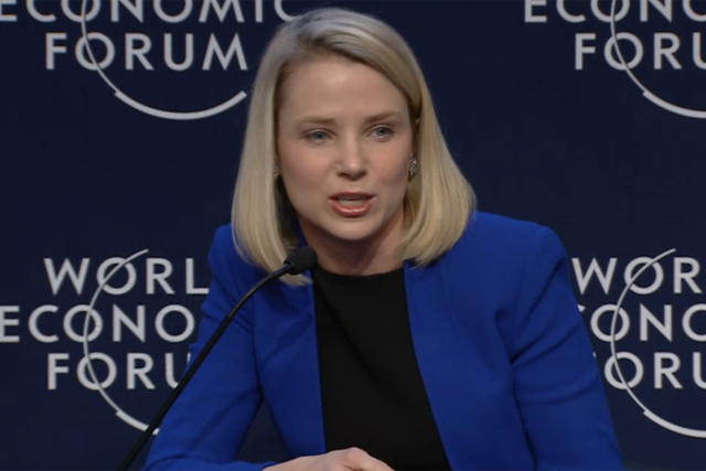 Marissa Mayer: Yahoo boss highlights the rise of the sharing economy
