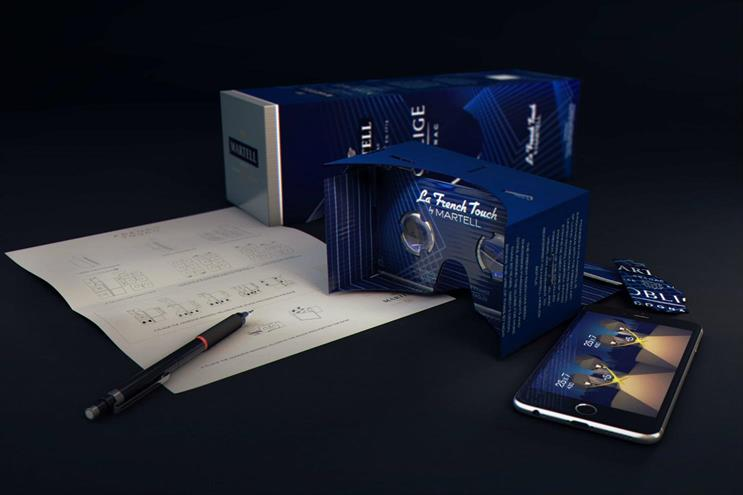 AKQA created packaging for Martell that turned into a virtual-reality headset
