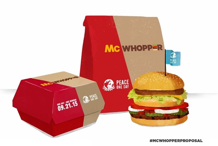 McWhopper work paid homage to the rivalry between McDonald's and Burger King