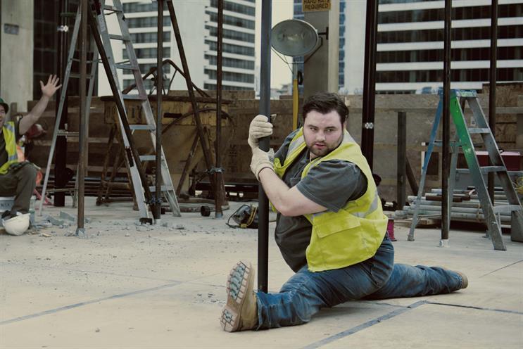 Moneysupermarket: unveils latest ad, featuring a pole dancing builder