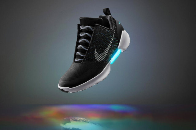 Nike has unveiled its first self lacing trainer, the HyperAdapt 1.0