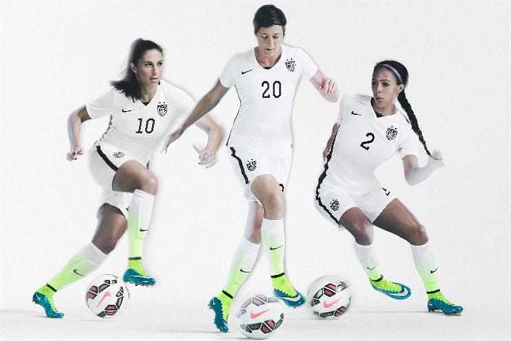 Nike is kit sponsors of the US women's football (soccer)  team