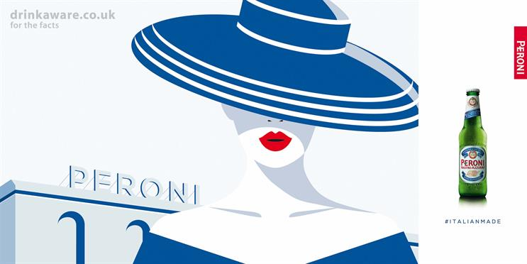 Peroni kicks off Italian heritage campaign with illustrated outdoor ads