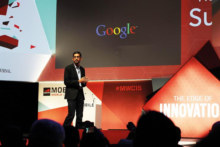 Pichai: Bloomberg last year described Google's new CEO as the 'most powerful man in mobile'