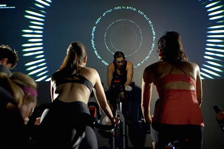 Equinox's The Pursuit: data from each bike is collated in real time