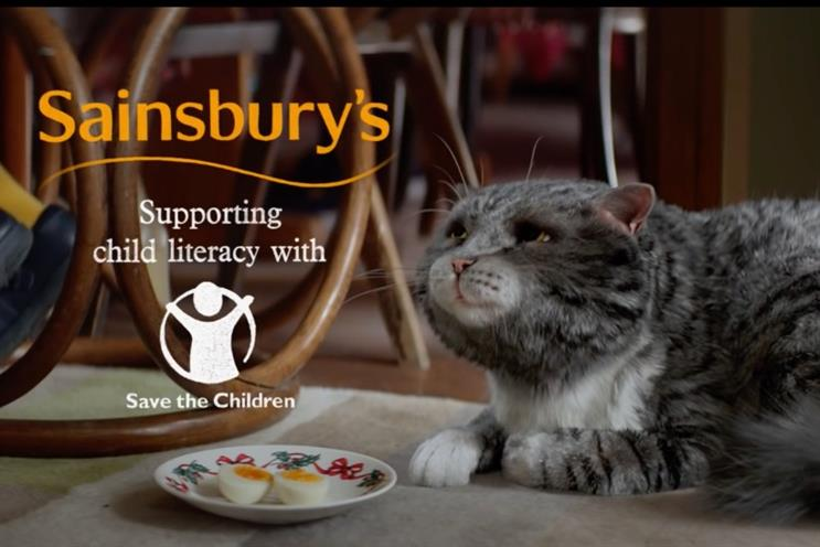 Sainsbury's: the supermarket's revival of Mog the cat made it the most-liked Christmas ad of 2015