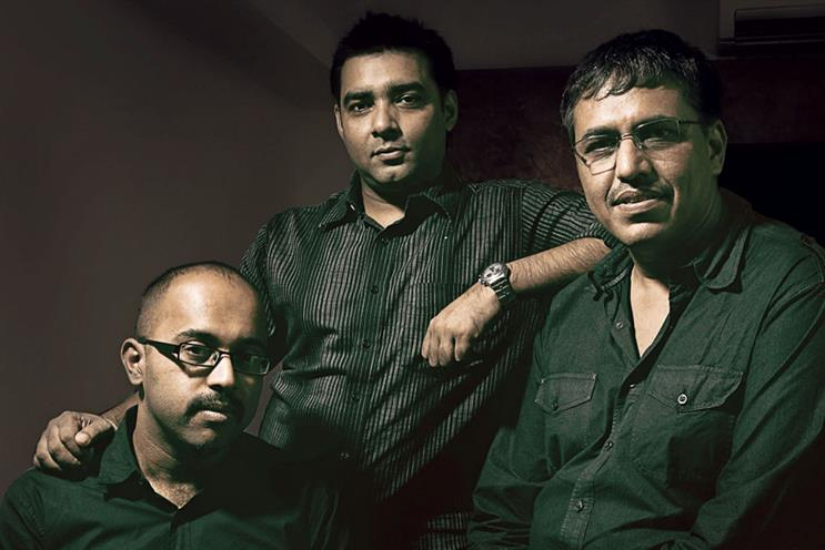 Bhat, Sengupta and Bhatt (l-r)…'there is a link between speed of thinking and the speed of your agency's growth'