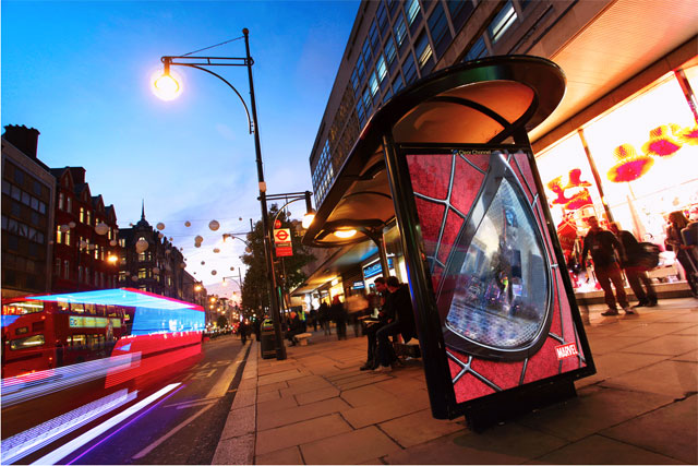 Spiderman 2: outdoor campaign makes creative use of lighting technology