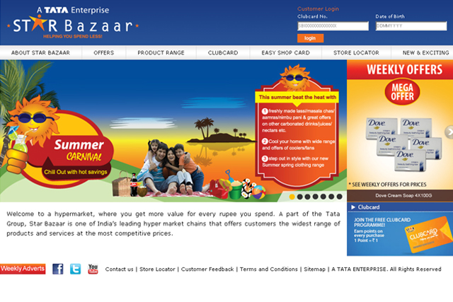 Tesco will operate 12 retail stores under the Star Bazaar brand