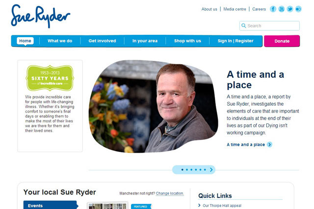 Sue Ryder: charity hires Code Computerlove as its digital agency