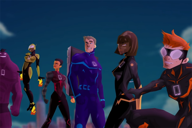 The IAB created superhero characters which personify mobile ad types: The Soldier (standard banner), The Star (rich media banner), New Kid on the Block (pre-roll video), Team Jester (in-read), Loyal Help (MPU), Reckless Hero (interstitial)