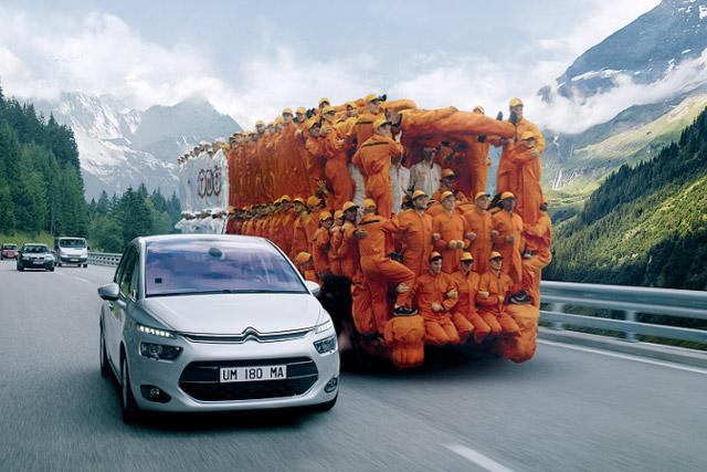 TNT: postal service creates 'human truck' for latest ad campaign