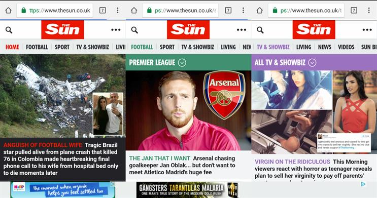 The Sun: has increased mobile audience by more than 900%
