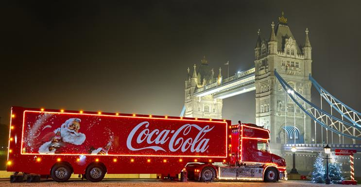 The Cola-Cola Christmas truck is cruising to a town near you soon