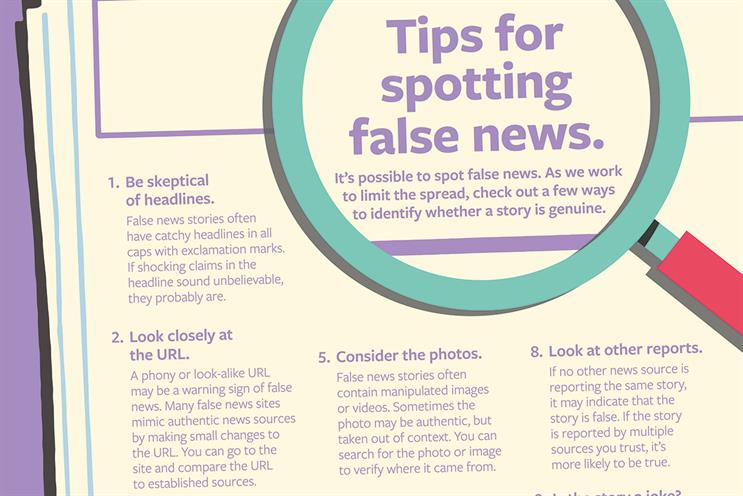 """Turkey of the week: Facebook """"Tips for spotting fake news"""""""