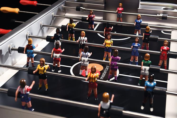 Mastercard: activity includes a table-football tournament using a bespoke table