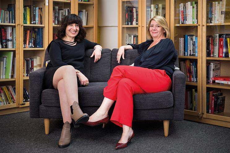 Unerman (left) and Jacob: their book suggests ways for women to  break through the glass wall that continues to prevent them from fulfilling their potential at work