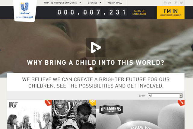 Unilever: unveils Project Sunlight campaign
