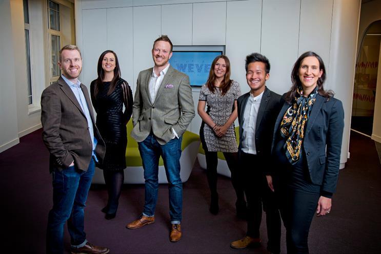 Weve(from left): Tom Pearman, Hannah St Paul, Nigel Clarkson, Katie Bachelor, Nigel Kwan, Keren Blackmore
