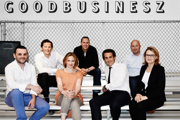 Havas Work Club: (left to right) Sandoz, Griffith, De Bonis, Mooge, Bolloré, Brooks and Robertson
