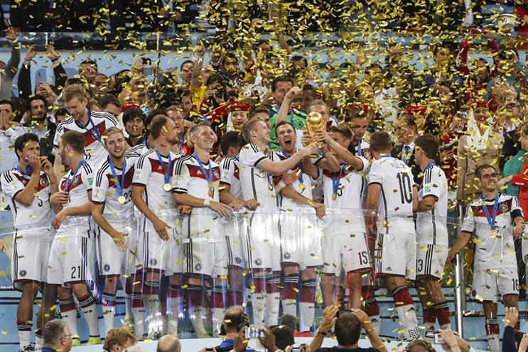 Fifa World Cup 2014: winners Germany lift the trophy
