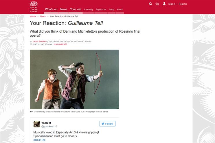 The Royal Opera House: the venue's 'Your Reaction' content hub