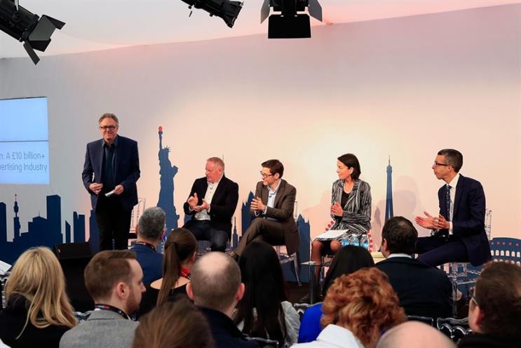 Advertising Week Europe: Guy Phillipson (l), Mark Howe, Steve Hatch and Claire Enders