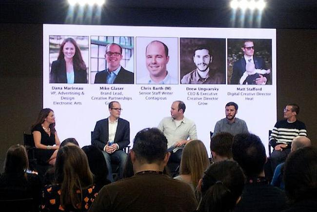 EA's Dana Marineau (left) joined thinkers from Google, Heat and Grow to talk about risk-taking in sports marketing.