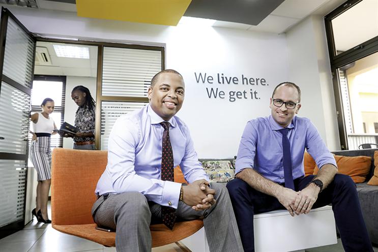 Rashid Tenga (left) and Cobus van Zyl