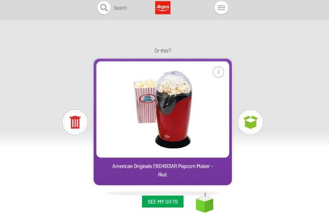Argos: apes Tinder for Christmas gifting app