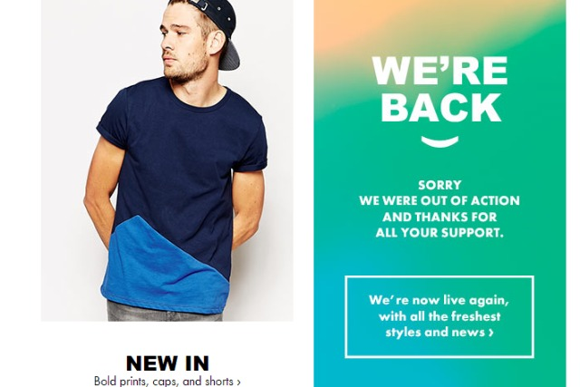 Asos: the company's website is taking orders again after the fire